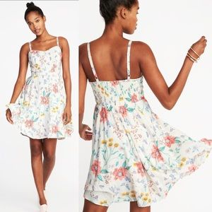 •Old Navy• NEW Fit & Flare Printed Cami Dress